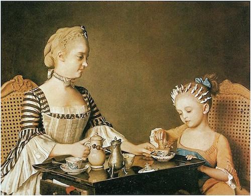 Jean-Etienne Liotard (Swiss artist, 1702-1789)  Madame Liotard and her Daughter (2)