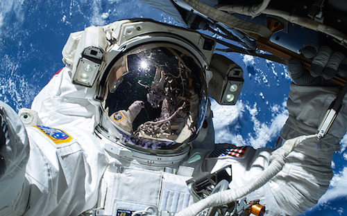 Astronauts Barry Wilmore and Terry Virts on first of three spacewalks